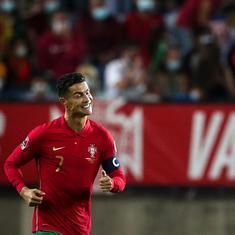 World Cup qualifiers: Ronaldo nets hat-trick as Portugal win big, Denmark qualify for Qatar 2022