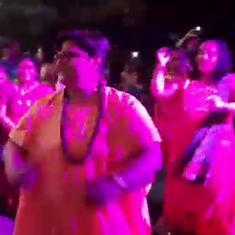 Watch: BJP MP Pragya Thakur, now back on her feet, participates in Garba and kabaddi