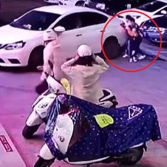 Caught on camera: Woman's quick action saves child from car being reversed