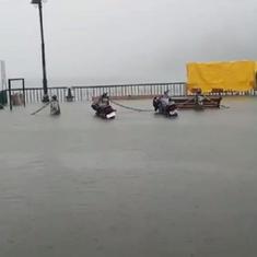 Watch: Nainital's Mall Road flooded, Naini Lake overflows as heavy rain batters Uttarakhand