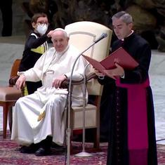 Watch: Young boy wants Pope Francis's skull cap,  manages to get one like it for himself