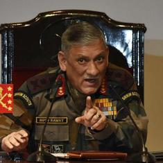Indian Army chief says pressure is on Pakistan to crack down on terrorism after FATF warning