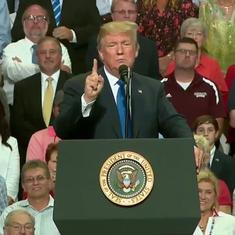 Watch: Donald Trump ridicules Kavanaugh accuser Christine Ford's testimony at a rally in Mississippi
