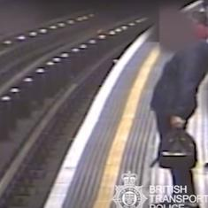 Watch: CCTV footage shows man trying to push London Underground passengers onto railway tracks