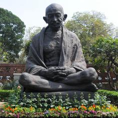 Andhra Pradesh: Police register complaint after Gandhi statue allegedly vandalised in Visakhapatnam